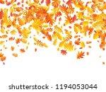 oak  maple  wild ash rowan... | Shutterstock .eps vector #1194053044