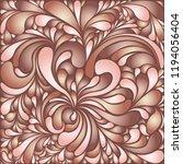 silk texture fluid shapes ... | Shutterstock .eps vector #1194056404