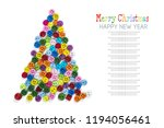 christmas tree made up of... | Shutterstock . vector #1194056461