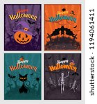 halloween invitation or... | Shutterstock . vector #1194061411