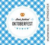 oktoberfest poster illustration ... | Shutterstock . vector #1194061414