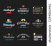 oktoberfest beer festival... | Shutterstock . vector #1194061441