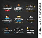 oktoberfest beer festival... | Shutterstock . vector #1194061444