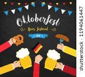 octoberfest beer festival... | Shutterstock . vector #1194061447