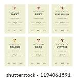 port wine labels. premium...   Shutterstock . vector #1194061591