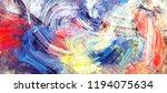 bright artistic splashes.... | Shutterstock . vector #1194075634