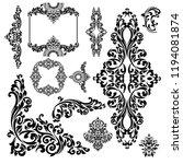 set of oriental vector damask... | Shutterstock .eps vector #1194081874