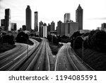 black and white skyline of... | Shutterstock . vector #1194085591
