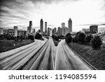 black and white skyline of... | Shutterstock . vector #1194085594