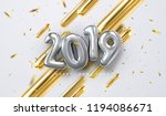happy new 2019 year. vector... | Shutterstock .eps vector #1194086671