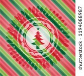 christmas tree icon inside... | Shutterstock .eps vector #1194088987