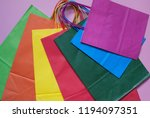 group of colorful shopping bags ... | Shutterstock . vector #1194097351