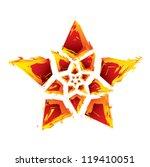 star formed burning rocks | Shutterstock .eps vector #119410051