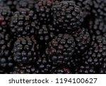 blackberry fruit detail...   Shutterstock . vector #1194100627