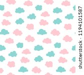 seamless pattern with pink and... | Shutterstock .eps vector #1194101587