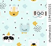 childish seamless pattern with... | Shutterstock .eps vector #1194103231