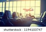 passenger seat in departure... | Shutterstock . vector #1194103747