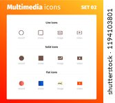 multimedia control icons   Shutterstock .eps vector #1194103801