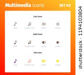 multimedia control icons   Shutterstock .eps vector #1194103804