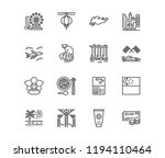 singapore flat line icons.... | Shutterstock .eps vector #1194110464