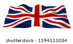 waving flag of the great... | Shutterstock . vector #1194111034