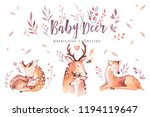 Cute Watercolor Baby Deer...