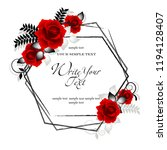 wedding card or invitation with ...   Shutterstock .eps vector #1194128407