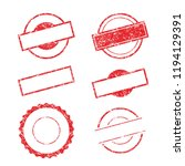 vector stamp without text. set... | Shutterstock .eps vector #1194129391