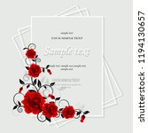 wedding card or invitation with ...   Shutterstock .eps vector #1194130657