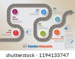 business road map timeline... | Shutterstock .eps vector #1194133747