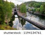 vrangfoss staircase locks  the... | Shutterstock . vector #1194134761