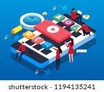 network smartphone app... | Shutterstock .eps vector #1194135241