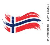 national flag of norway ... | Shutterstock .eps vector #1194136537