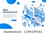 modern isometric design concept ... | Shutterstock .eps vector #1194139141