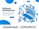 modern isometric design concept ... | Shutterstock .eps vector #1194139171