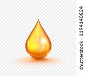oil gold bubble isolated on a... | Shutterstock .eps vector #1194140824