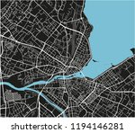 black and white vector city map ... | Shutterstock .eps vector #1194146281