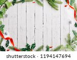 a winter style frame of ivy ... | Shutterstock . vector #1194147694