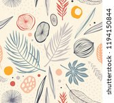 seamless tropical pattern with... | Shutterstock .eps vector #1194150844