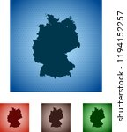 map of germany | Shutterstock .eps vector #1194152257