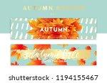 trendy and elegant autumn... | Shutterstock .eps vector #1194155467