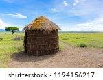maasai  s shelter  circular... | Shutterstock . vector #1194156217