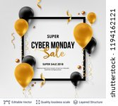 cyber monday sale background... | Shutterstock .eps vector #1194162121