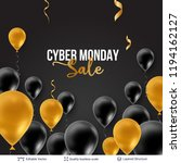 cyber monday sale background... | Shutterstock .eps vector #1194162127