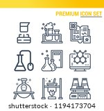 simple set of  9 outline icons... | Shutterstock .eps vector #1194173704