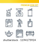 simple set of  9 outline icons... | Shutterstock .eps vector #1194175924
