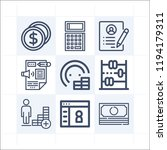 simple set of 9 icons related... | Shutterstock .eps vector #1194179311