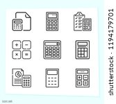 simple set of 9 icons related... | Shutterstock . vector #1194179701