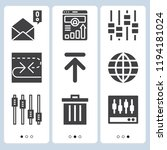 simple set of  9 filled icons... | Shutterstock .eps vector #1194181024