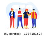 young cartoon men and women... | Shutterstock .eps vector #1194181624